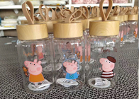 Peppa Pig Glass Bottle Double Wall Coffee Glass / Borosilicate Glass Cup
