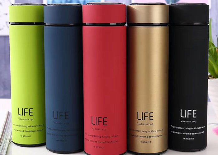 Classical Life Vacuum Cups Flask , Round Stainless Steel Drink Bottles